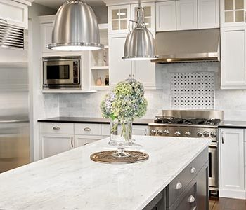 new furnished kitchen in luxury home