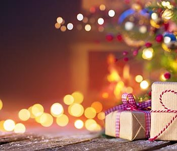 Christmas Tree With Decorations And Present